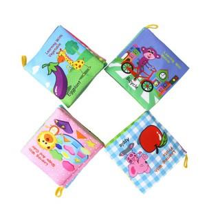 [Ana Kids] Đồ chơi sách vải tiếng Anh kêu chút chít nhiều chủ đề cho b FRESHIP 99k