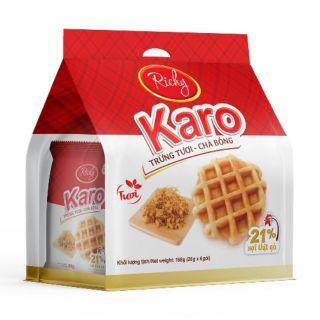 """[Mã GROMS27 giảm 10% đơn 199K] [Date mới] 24 cái- Bánh trứng tươi chà bông Karo Richy giá chỉ còn <strong class=""""price"""">10.600.000.000đ</strong>"""