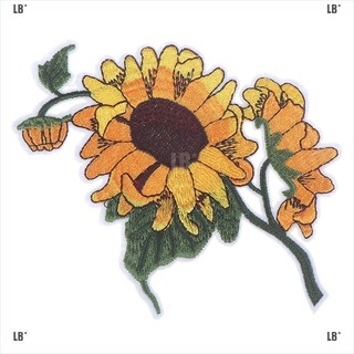 LB*Sunflower Patch Still Life Painting Flower DIY Iron on Applique Sewing Supplies