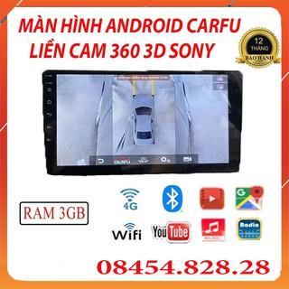Màn Hình Android CARFU Tích Hợp Camera 360 Sony 3D, RAM 3gb Chip 8x, Camera 360 Ô Tô