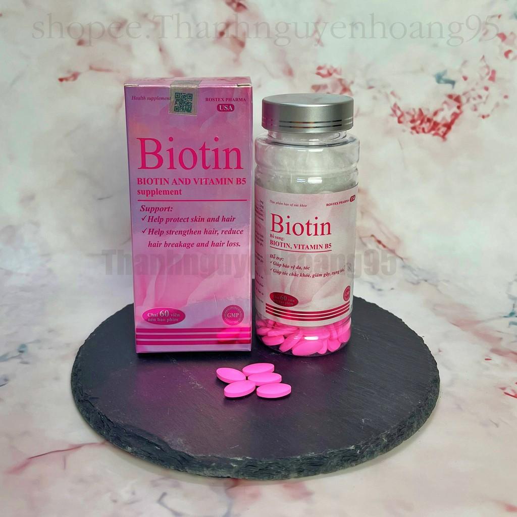 Viên uống BIOTIN bổ sung vitamin B5 giúp tóc móng chắc khoẻ, giảm gãy rụng thumbnail