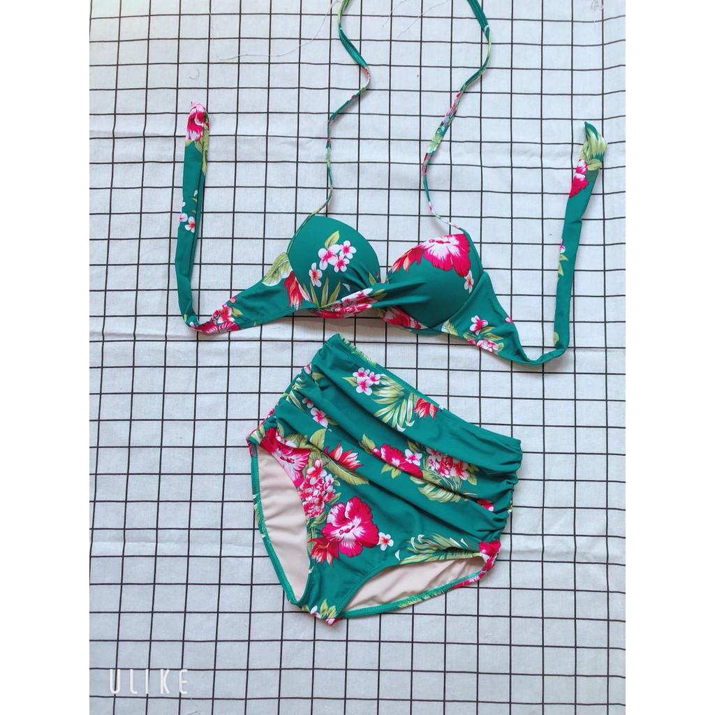 Bikini 2 mảnh hoa tiết xinh hoa tím