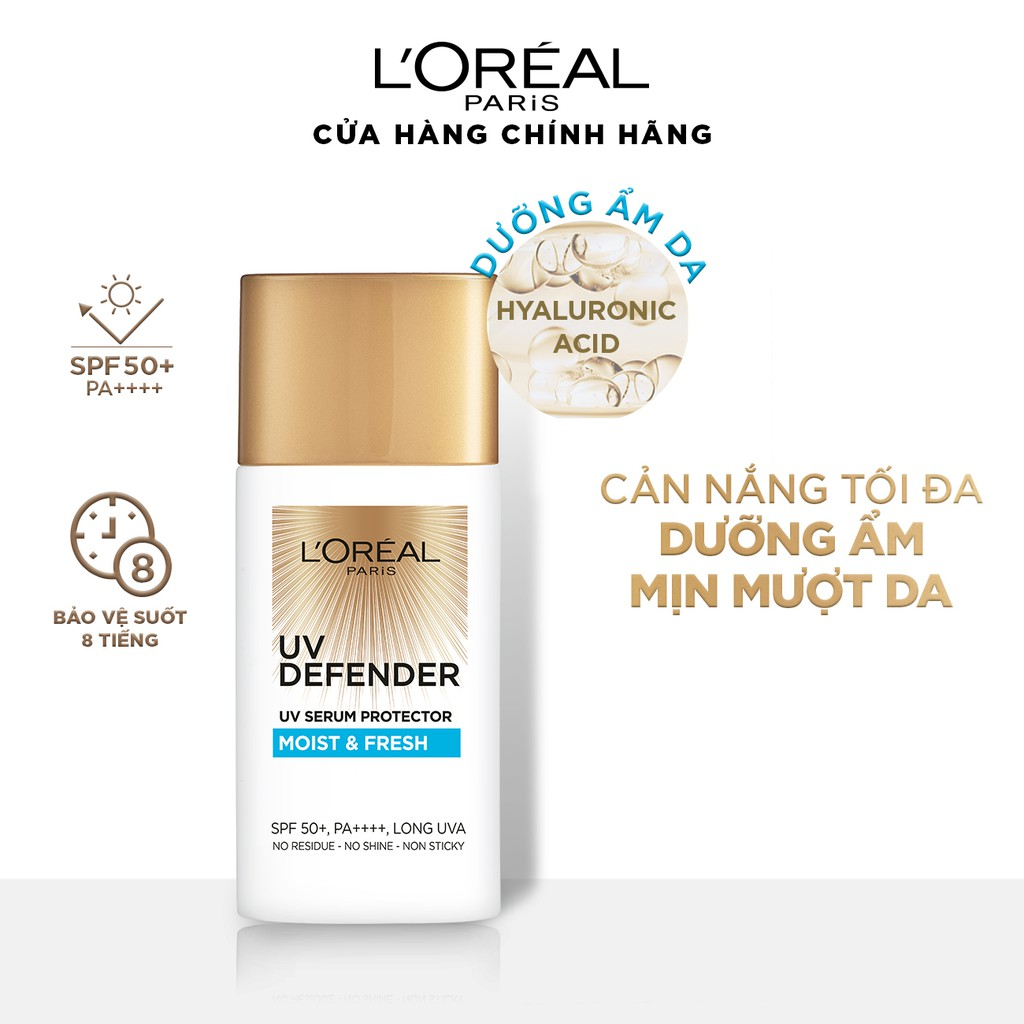 Kem chống nắng mịn nhẹ bảo vệ da chống lão hóa L'Oreal Paris UV Defender  50ml | Shopee Việt Nam