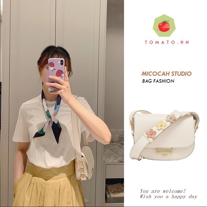 Micocah - Hàng có sẵn- Túi đeo chéo  Micocah đính hoa hot trend cực xinh mẫu mới nhất 2020 mã 439