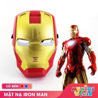 Mặt nạ hóa trang Iron Man đồ chơi hóa trang Người Sắt Avengers Cosplay Halloween sinh nhật cho trẻ em bằng nhựa an toàn