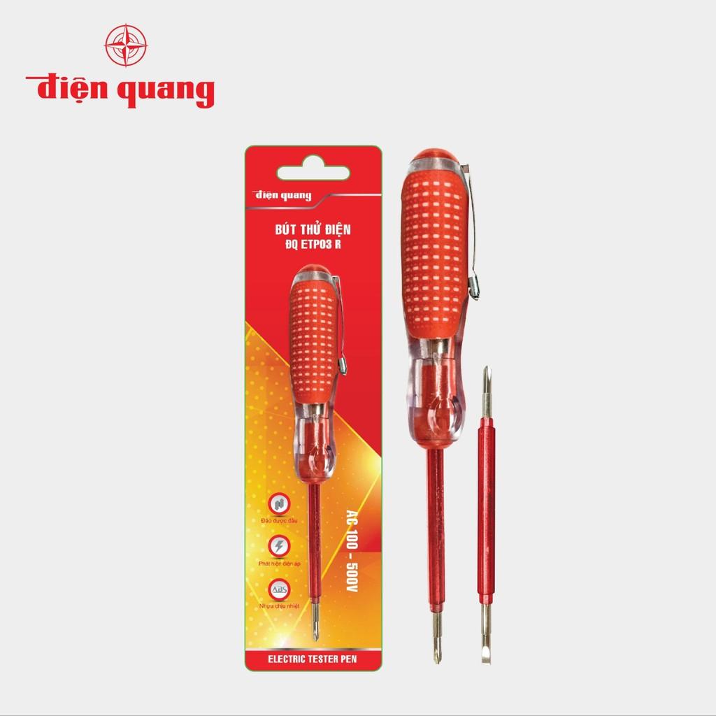 Bút thử điện Điện Quang ĐQ ETP03 R (2 đầu vít, 160 mm, màu đỏ)