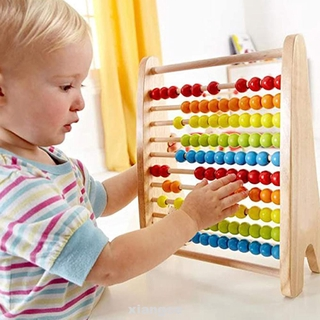 Home For Kids Calculating Unisex Educational Toy Rainbow Kindergarten Learning Math Tool Wooden Abacus