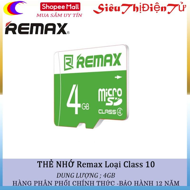 THẺ NHỚ REMAX 4Gb LOẠI CLASS 10