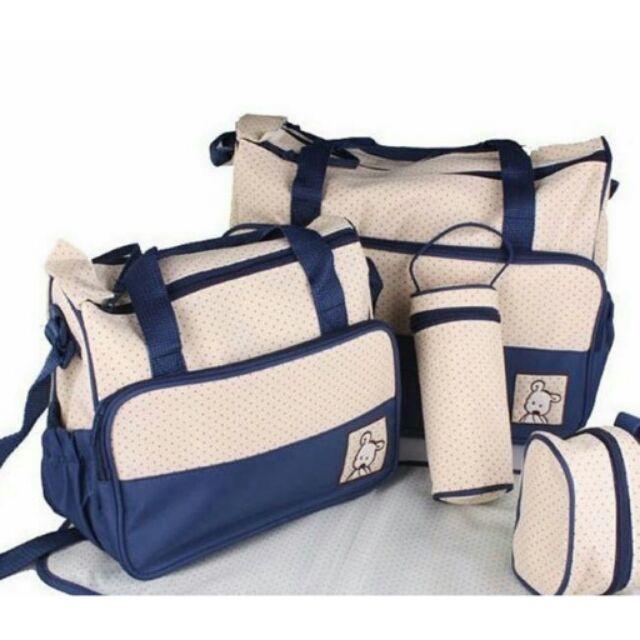 Bộ túi 5 chi tiết cho mẹ và bé - 2500415 , 12448815 , 322_12448815 , 190000 , Bo-tui-5-chi-tiet-cho-me-va-be-322_12448815 , shopee.vn , Bộ túi 5 chi tiết cho mẹ và bé