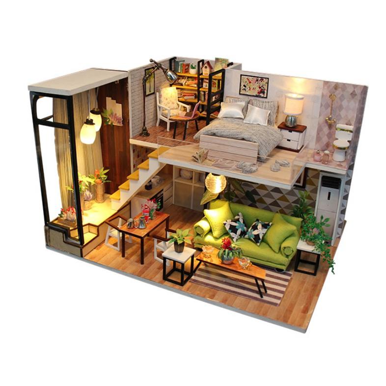Mô hình nhà gỗ DIY Biệt thự Châu Âu sang trọng
