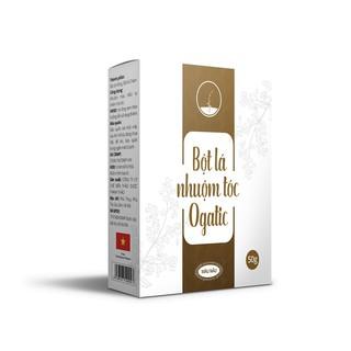 Bột lá nhuộm tóc Ogatic - MÀU NÂU - 100% từ thảo dược thiên nhiên, không hóa chất độc hại (50gr) thumbnail
