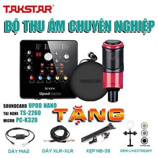 [CHÍNH HÃNG]Trọn bộ combo thu âm,hát live chuyên nghiệp: SOUNDCARD ICON NANO –MIC TAKSTAR PC-K320 và TAI NGHE TS-2260