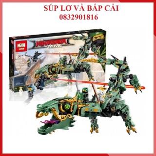 Lepin 06051 Ninja Go Rồng xanh – Đồ chơi lắp ráp xếp hình thông minh