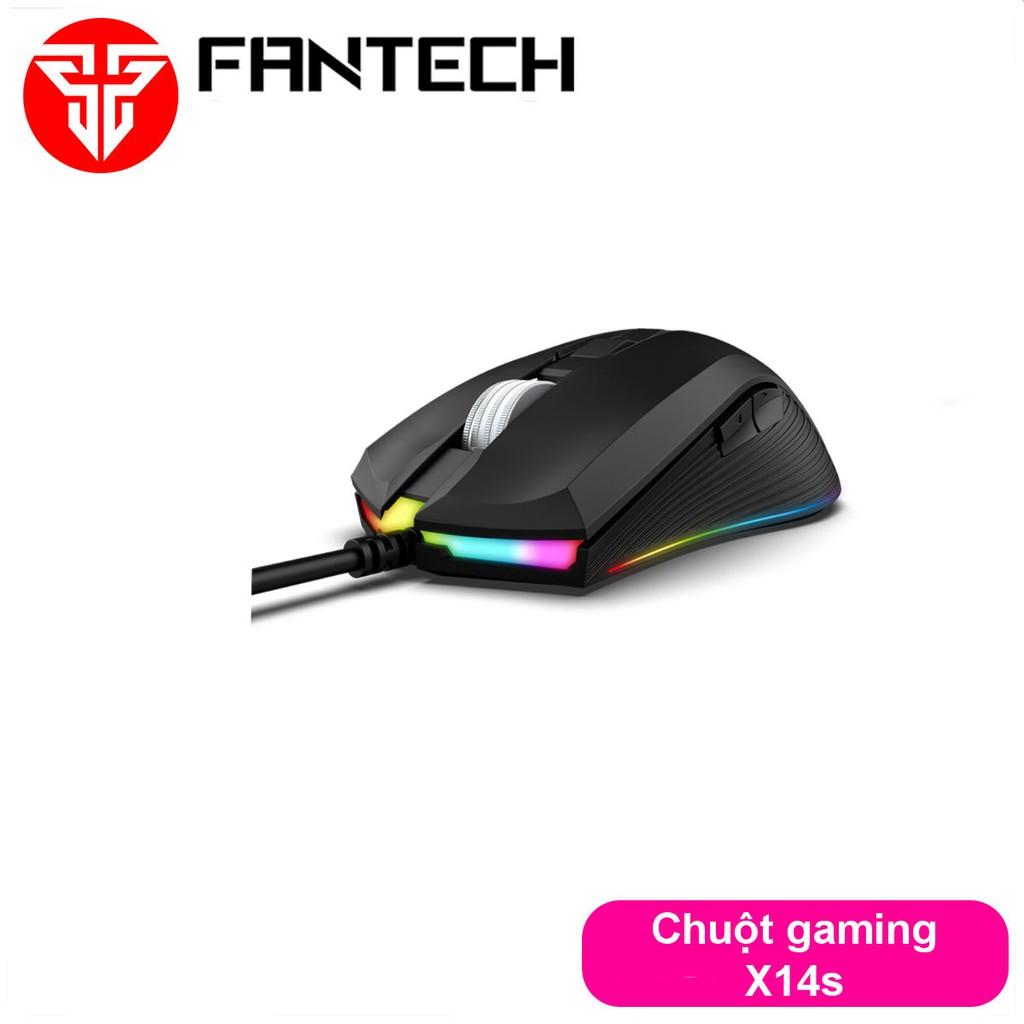 Chuột Gaming Có Dây Fantech X14s RANGERS 10000DPI LED RGB 16,8 Triệu Màu 7 Phím Macro Có Phần Mềm Tùy Chỉnh Riêng
