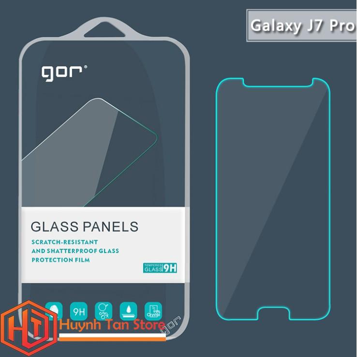 Samsung J7 Pro _ Cường lực trong suốt không full màn chính hãng GOR