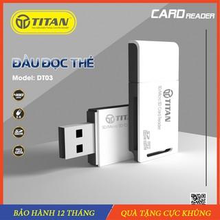 Đầu đọc thẻ nhớ Micro SD/SD/MMC, đọc thẻ đa năng Titan Adapter SD cho máy ảnh máy quay phim điện thoại – Chính Hãng