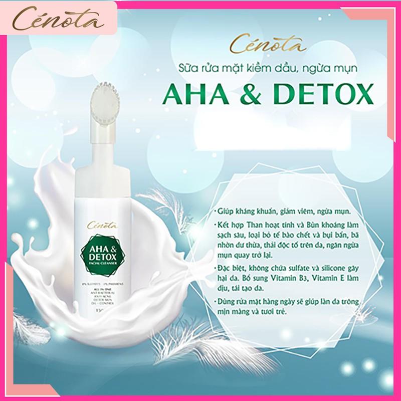 Sữa rửa mặt AHA Detox 150ml, sữa rửa mặt giúp tạo bọt, kiềm dầu, ngăn ngừa mụn hiệu quả - mã C04