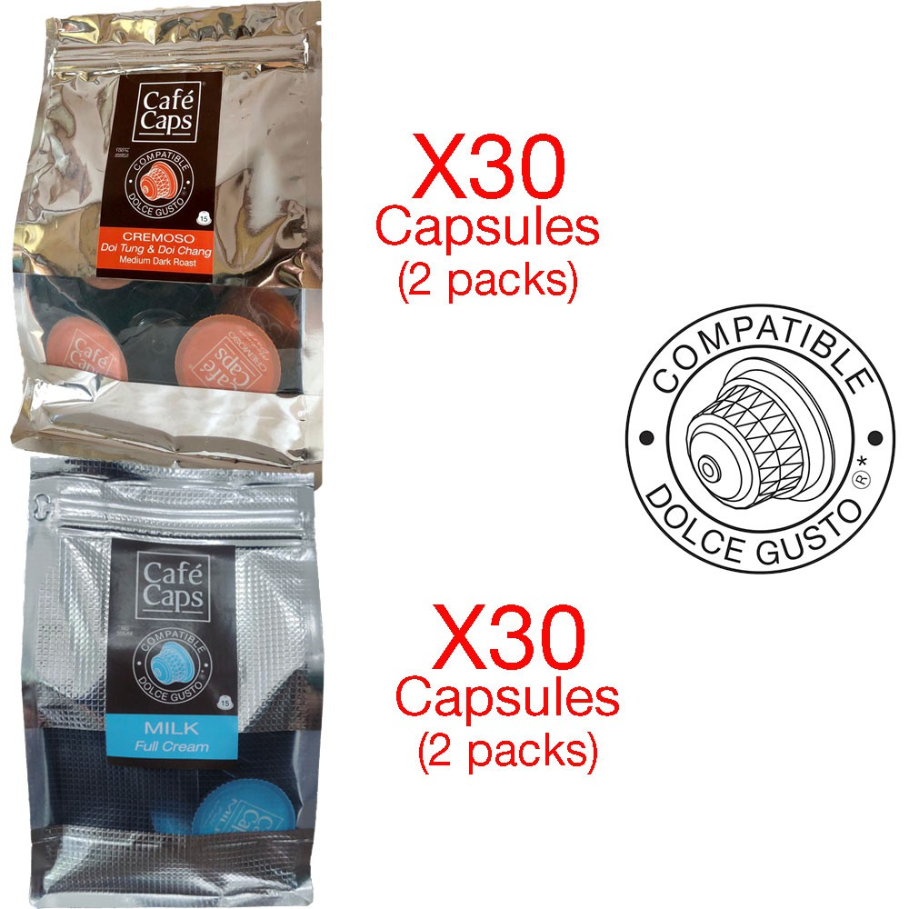 Dolce Gusto Compatible Mix X60 (Milk,Cremoso)