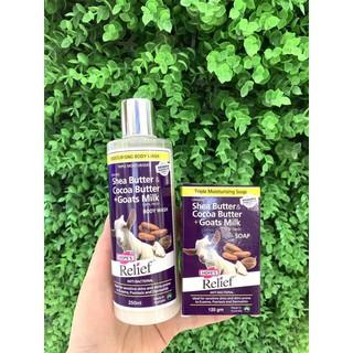 [XẢ KHO] (Giá huỷ diệt) Xà bông diệt khuẩn dưỡng ẩm sữa dê và bơ ca cao Hope s Relief Soap Goat s Milk, Shea Cocoa 125g