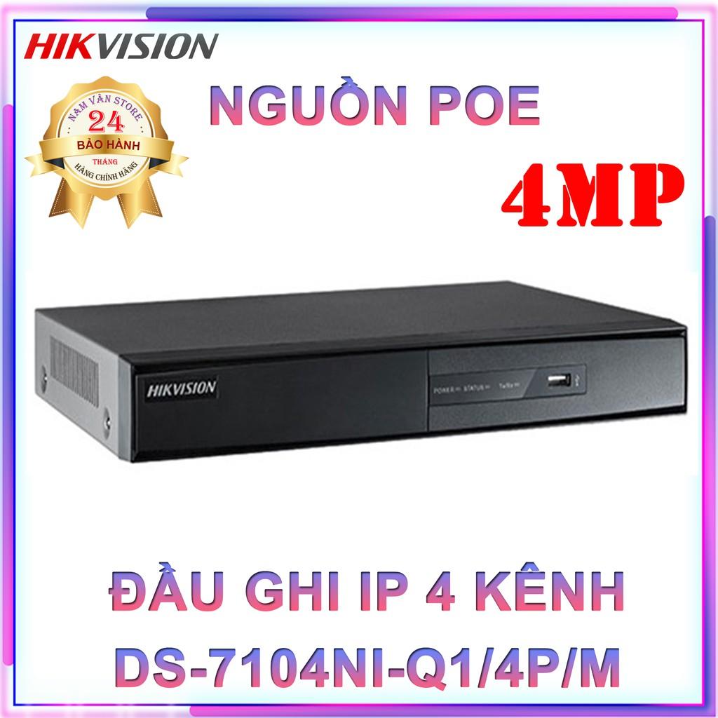 Đầu Ghi Hình Camera IP 4 Kênh HIKVISION DS-7104NI-Q1/4P/M - Hàng Chính Hãng