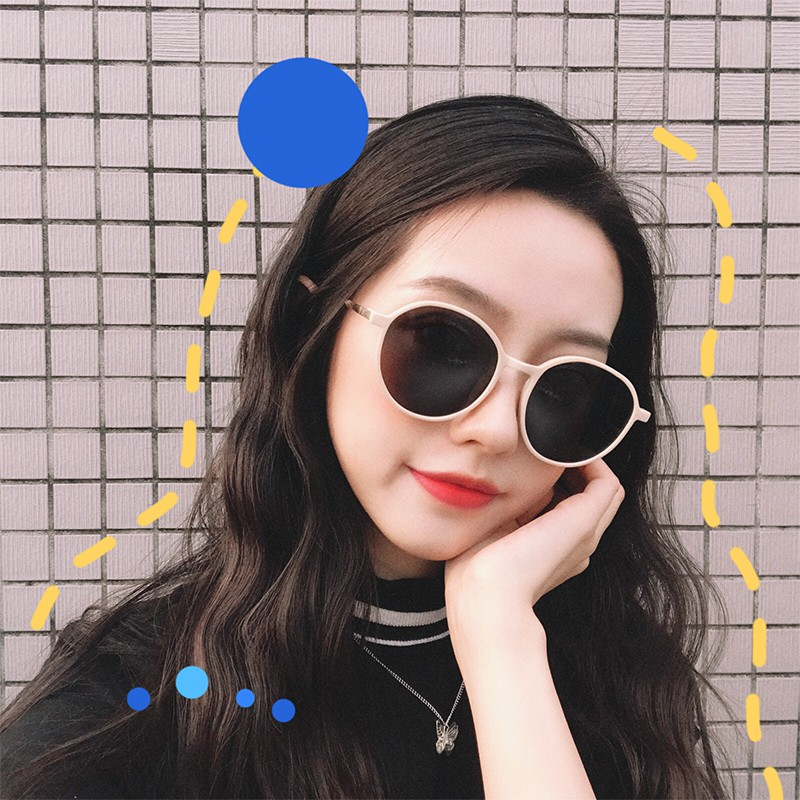 ♝Han edition tide sunglasses female ins face style restoring ancient ways round web celebrity street snap the new 2019