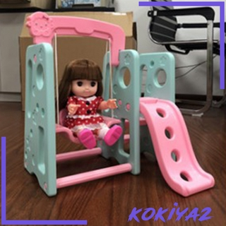 [KOKIYA2] Assembly Swing Slide Playhouse Decoration for Mellchan Baby Doll House Accs