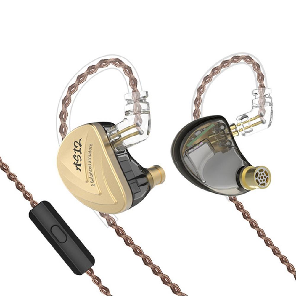 Tai nghe KZ AS12 - 12 Driver BA chất âm tuyệt hảo - có micro đàm thoại
