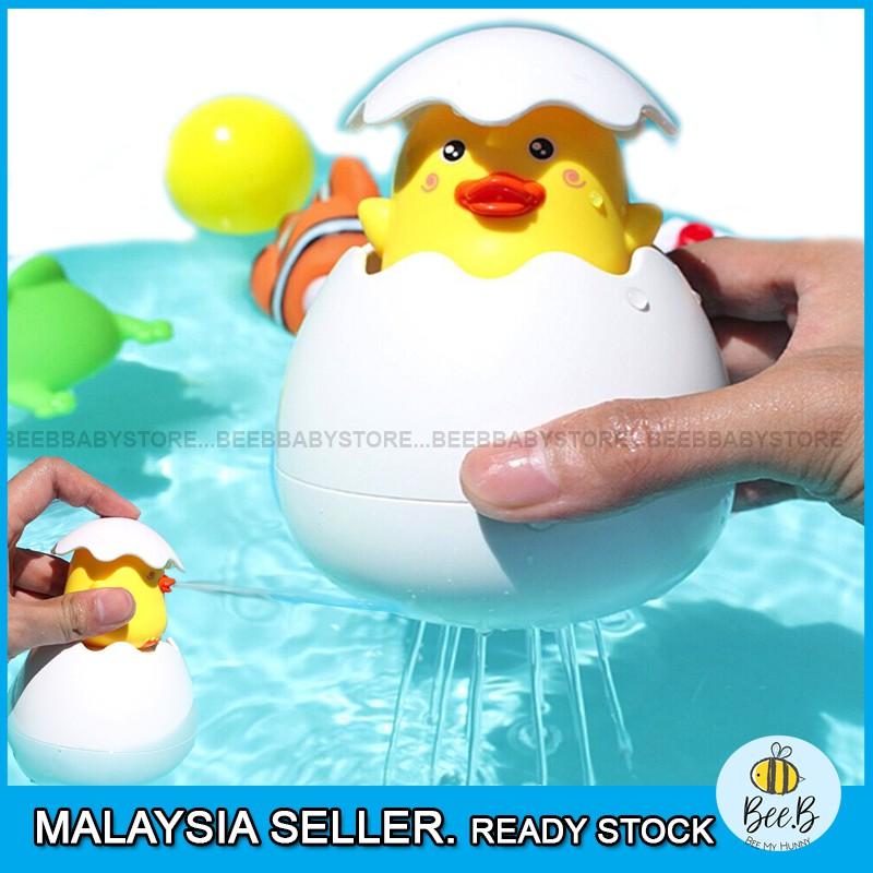 Floating Spray Egg Duck Toy Baby Bathroom Play Toy Water Bath Toys