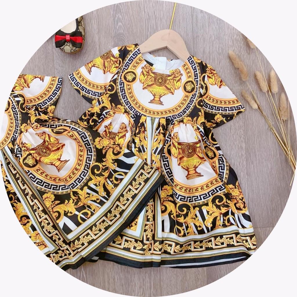 Váy Bé Gái V.Sace Họa Tiết Đen - TucAnh