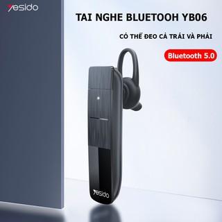 Tai nghe Bluetooth YESIDO-YB06- Tai nghe nhét tai một bên, âm thanh cao cấp, phù hợp với tất cả các dòng điện thoại.