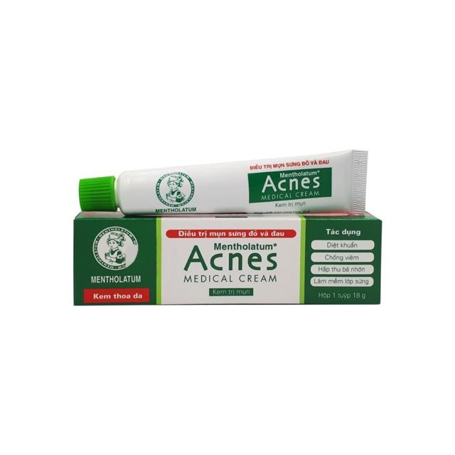 Kem điều trị mụn sưng đỏ và đau Acnes Medica