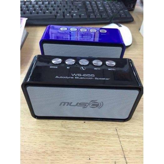 Loa Bluetooth WS 655 (màu sắc ngẫu nhiên)