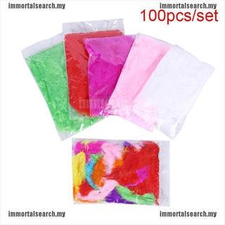 Set 100 Lông Vũ Nhiều Màu Sắc Dùng Để Trang Trí Tiệc Cưới