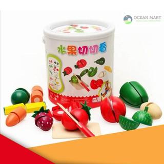 [MAX-R] Bồ đồ chơi cắt hoa quả gỗ Giá Rẻ