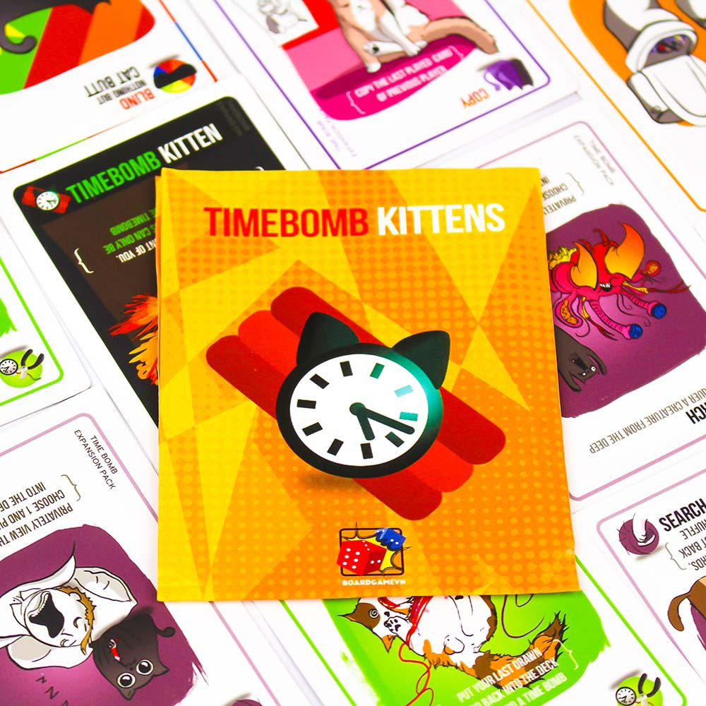 [150k Free ship] Timebomb Kittens - Mèo Nổ Bản Mở Rộng #4- BoardGameVn