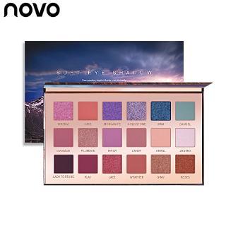Bảng Phấn Mắt NOVO 18 Màu Lì Và Nhũ Kim Tuyến Tự Nhiên Lâu Trôi