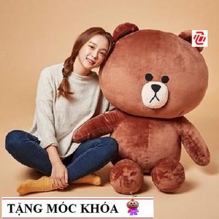 Gấu bông Brown cao cấp khổ vải 1m2 hàng VNXK