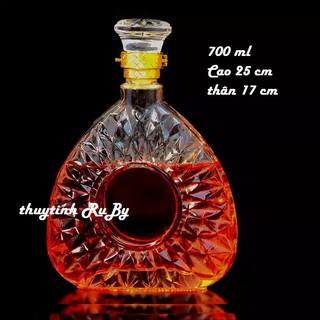 Bình ngâm rượu thủy tinh 750ml, Vỏ chai ngâm rượu xo đẹp