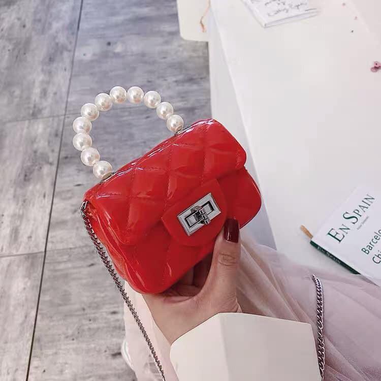 Túi ví nữ ❤️FREESHIP❤️ Túi Mini Quai Ngọc Siêu Bền Cho Nữ