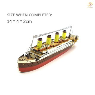 E&T 3 Dimensional Puzzles Titanic Metal Jigsaw Model Kit DIY Boat Ship Model Educational Toys Gift f