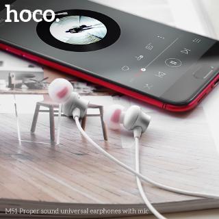Hình ảnh Hoco M51 Tai nghe dài 1.2M giắc 3.5mm kèm micro phát âm thanh chất lượng cao-7