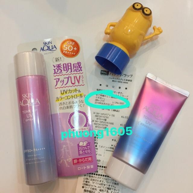 (bill vua mua)kem chống nắng Skin Aqua Tone Up spf50