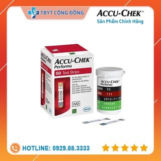 Hộp 50 que thử đường huyết Accu Check Performa thumbnail