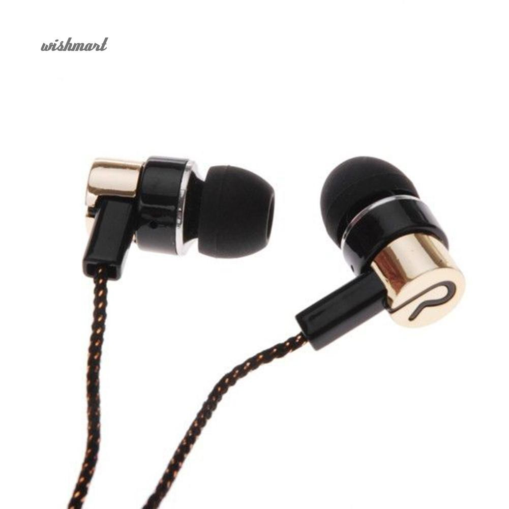 Tai nghe stereo có dây nhét tai giắc 3.5mm phát âm thanh sống động