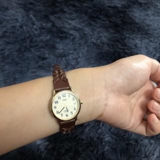 Đồng hồ nữ đã qua sử dụng dây da đan hiệu Timex thumbnail