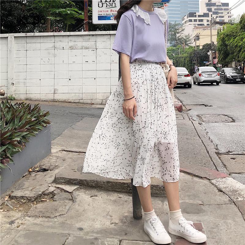 Chân váy dài thiết kế đơn giản ngọt ngào cho nữ