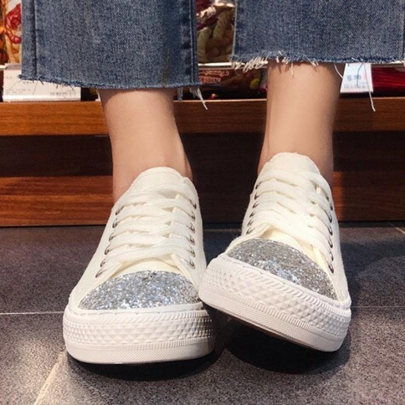 Giày Nữ Đế Bằng DVT34 Vài Phiên Bản Hàn Quốc Harajuku Ulzzang New