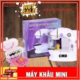[ Bảo hành 6 tháng] Máy may mini máy khâu mini CMD có đèn led may thêu vá tại gia đình rất tiện dụng