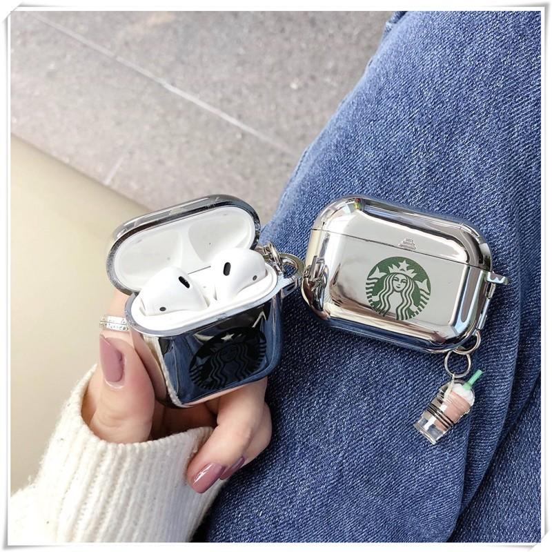 Case Vỏ Bao Airpod Đựng Tai Nghe Airpods 1/2/Pro Starbuck Nhựa TPU Mạ Bạc Cực Đẹp Vỏ Bọc Airpods - Chinchin Case