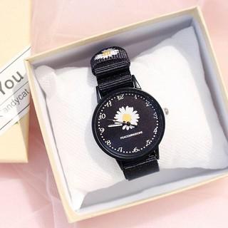 Đồng hồ thời trang nam nữ hoa cúc dây dù cá tính H365
